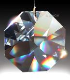This octagon crystal has large facets and can make large beautiful rainbows. Photo courtesy Laura Hoffman, XinaCat.com.