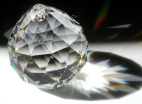 This is a completely clear crystal. It is very commonly used in feng shui. Photo courtesy Laura Hoffman, XinaCat.com.