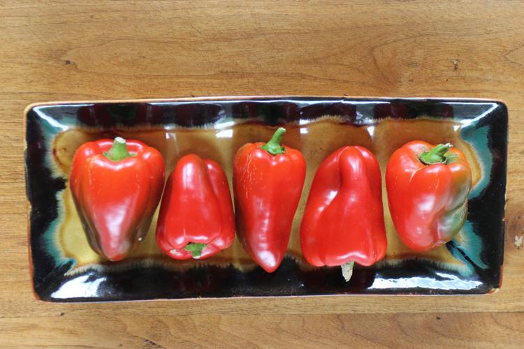 Garden bell peppers